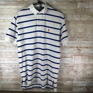 Polo Ralph Lauren Stripe Polo Button Shirt White